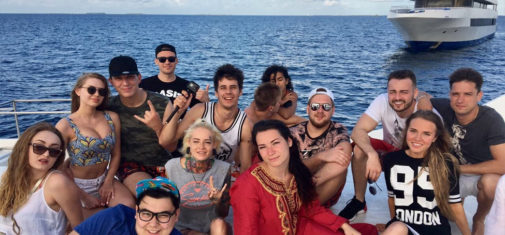 Топ блогеры России на круизной яхте Ритрелла